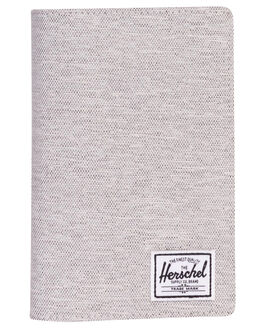 LIGHT GREY CROSSHAT WOMENS ACCESSORIES HERSCHEL SUPPLY CO PURSES + WALLETS - 10399-02041-OSLGRY