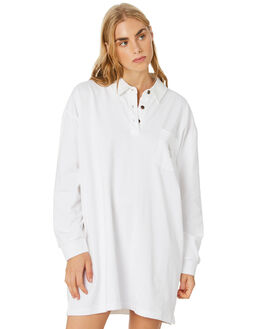 WHITE WOMENS CLOTHING STUSSY DRESSES - ST106500WHT