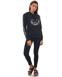 BLACK WOMENS CLOTHING HURLEY JUMPERS - AGFLSGNS00A