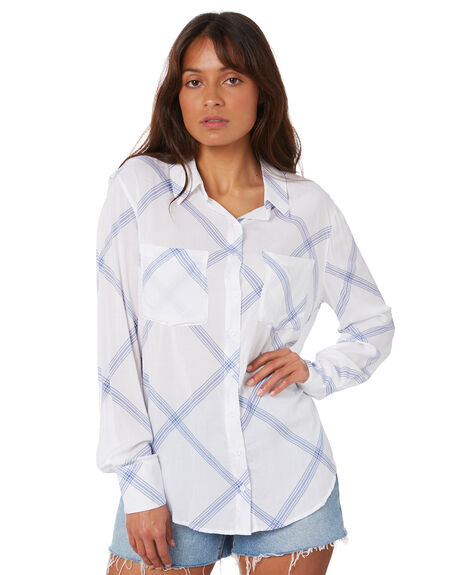 WHITE OUTLET WOMENS RUSTY FASHION TOPS - SCL0347WHT