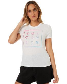 WHITE OUTLET WOMENS VOLCOM TEES - B35318V3WHT