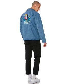 INDIGO MENS CLOTHING HUF JACKETS - JK00149-INDIG