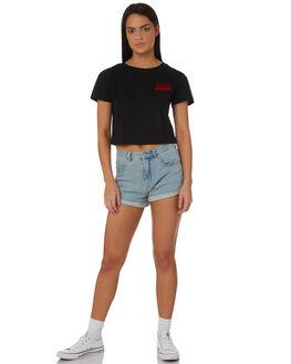 BLACK WOMENS CLOTHING ZOO YORK TEES - ZY-WTC8396BLK