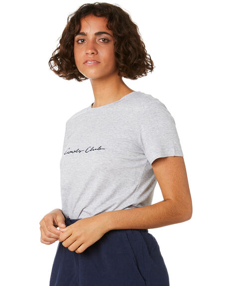 GREY MELANGE WOMENS CLOTHING COOLS CLUB TEES - 113-CW1GRY
