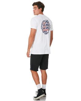 WHITE MENS CLOTHING SANTA CRUZ TEES - SC-MTC9242WHT
