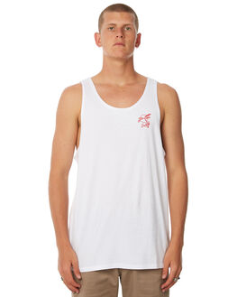 WHITE OUTLET MENS SWELL SINGLETS - S5184273WHITE