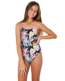BLACK MULTI KIDS GIRLS ZOGGS SWIMWEAR - 5112190BKMLT