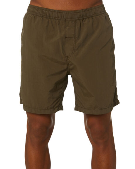 ARMY GREEN MENS CLOTHING THRILLS BOARDSHORTS - SMU20-301FAMGRN