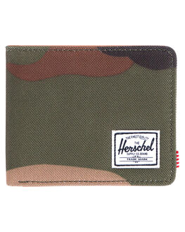 WOODLAND CAMO MENS ACCESSORIES HERSCHEL SUPPLY CO WALLETS - 10368-00032-OSWOOD