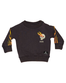 CHARCOAL KIDS BABY ROCK YOUR BABY CLOTHING - BBH197-KBCHAR