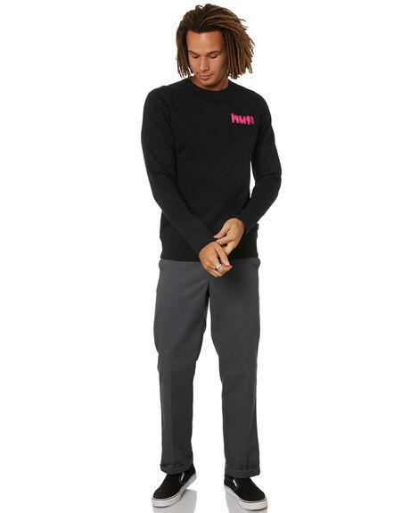 BLACK MENS CLOTHING HUF HOODIES + SWEATS - PF00354-BLACK