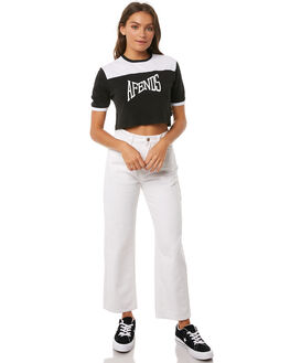 BLACK WOMENS CLOTHING AFENDS TEES - W181001BLK