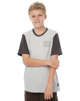 LIGHT GREY HEATHER KIDS BOYS BILLABONG TEES - 8571010GRY