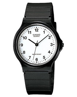 WHITE BLACK MENS ACCESSORIES CASIO WATCHES - MQ24-7B