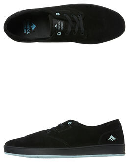 BLACK BLUE MENS FOOTWEAR EMERICA SKATE SHOES - 6102000089-545