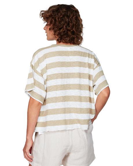 DUST YELLOW WOMENS CLOTHING RVCA TEES - RV-R292684-DYL