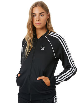 BLACK WOMENS CLOTHING ADIDAS JUMPERS - CE2392BLK