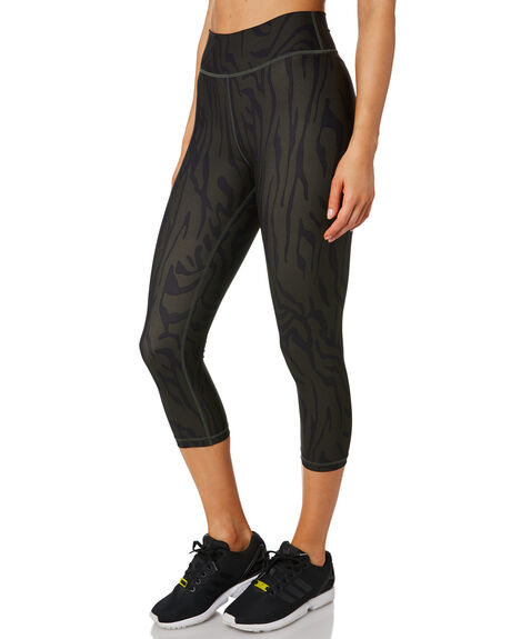 KHAKI BLACK WOMENS CLOTHING THE UPSIDE ACTIVEWEAR - USW319048KHKBK