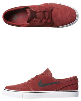 RED BLACK MENS FOOTWEAR NIKE SKATE SHOES - 333824-603