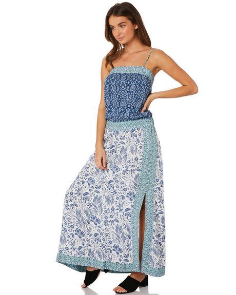 BLUE WOMENS CLOTHING TIGERLILY DRESSES - T391425BLU