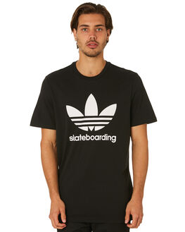 BLACK MENS CLOTHING ADIDAS TEES - CW2349BLK