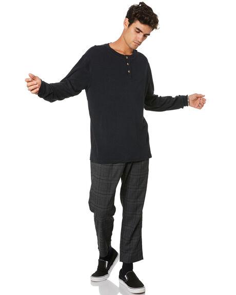 BLACK MENS CLOTHING THRILLS TEES - TA20-133BBLK