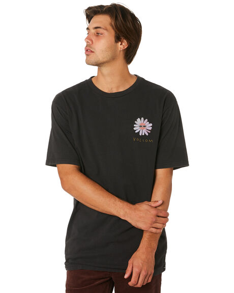BLACK MENS CLOTHING VOLCOM TEES - A4331907BLK