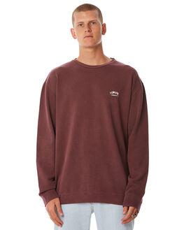 DARK AUBERGINE MENS CLOTHING STUSSY JUMPERS - ST085201DAUB