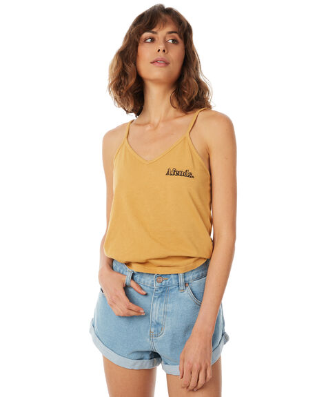 AMBER WOMENS CLOTHING AFENDS SINGLETS - W183087-AMB