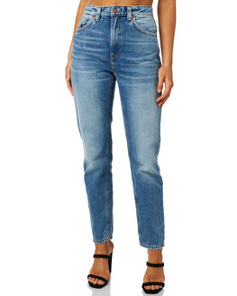 WORN STONE WOMENS CLOTHING NUDIE JEANS CO JEANS - 113258WORN