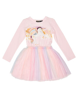 PINK WHITE KIDS GIRLS ROCK YOUR KID DRESSES + PLAYSUITS - TGD2060-SGPINK