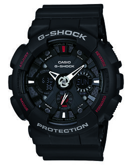 BLACK MENS ACCESSORIES G SHOCK WATCHES - GA120-1ABLK
