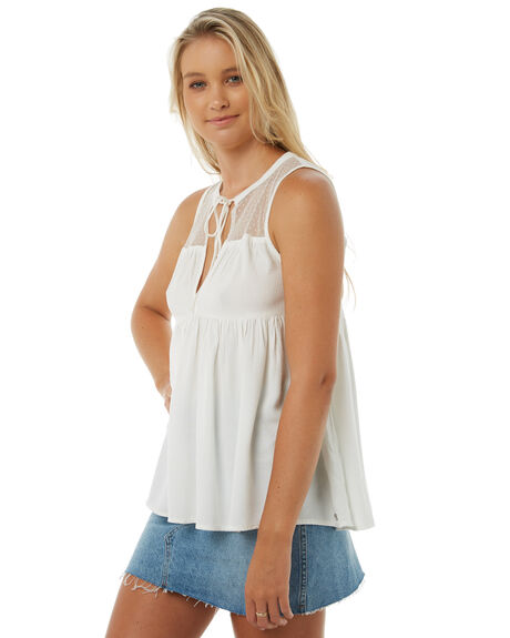 STAR WHITE WOMENS CLOTHING VOLCOM FASHION TOPS - B0511800SWH