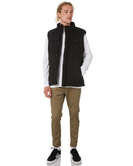 BLACK MENS CLOTHING HUFFER JACKETS - MPVE92S801BLK