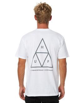WHITE MENS CLOTHING HUF TEES - TSBSC114WHT