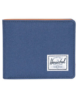 NAVY TAN MENS ACCESSORIES HERSCHEL SUPPLY CO WALLETS - 10368-00882-OSNVY