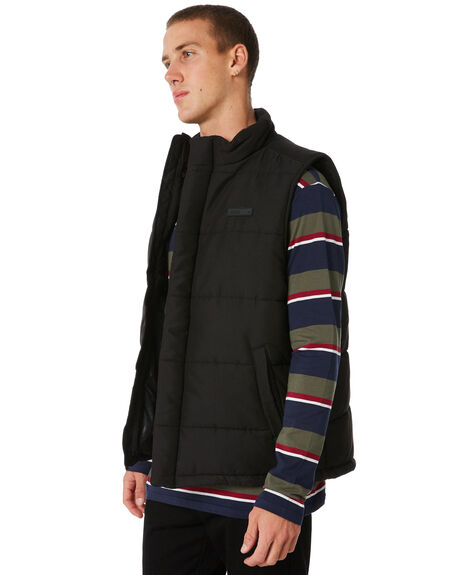 BLACK MENS CLOTHING HUFFER JACKETS - MDVE81S1801BLK