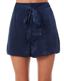 DARK BLUE WOMENS CLOTHING ALL ABOUT EVE SHORTS - 6423033NAVY