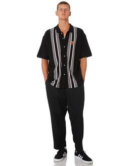 BLACK MULTI MENS CLOTHING OBEY SHIRTS - 131090046BKM