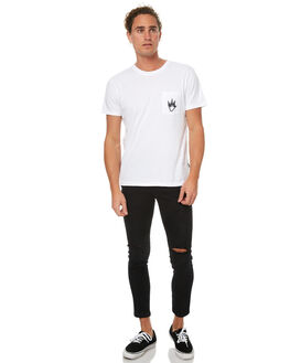 BLACK MENS CLOTHING AFENDS JEANS - 12-05-001BLK
