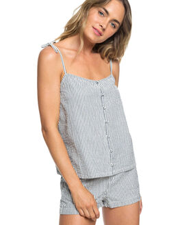 DRESS BLUE CORNFIELD WOMENS CLOTHING ROXY FASHION TOPS - ERJWT03264BTK4