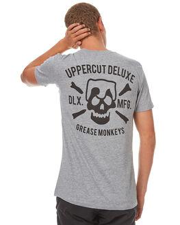 GREY BLACK MENS CLOTHING UPPERCUT TEES - UPDTS0249GRYBK
