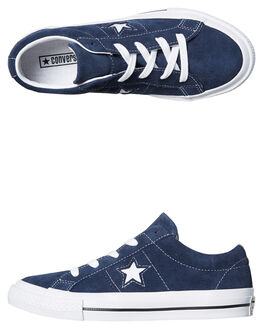 NAVY KIDS BOYS CONVERSE SNEAKERS - 658371NVY