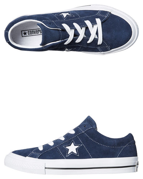 f1188d538b65 NAVY KIDS BOYS CONVERSE SNEAKERS - 658371NVY