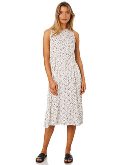 IVORY FLORAL WOMENS CLOTHING LILYA DRESSES - RVD18-PRSS18IVORY