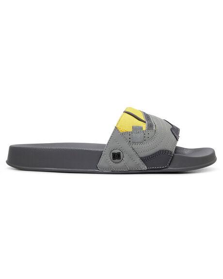 GREY/YELLOW MENS FOOTWEAR DC SHOES THONGS - ADYL100045-GY1