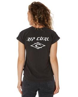 BLACK WOMENS CLOTHING RIP CURL TEES - GTEDJ20090