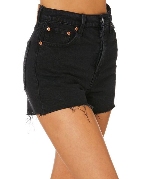BLACK WOMENS CLOTHING LEVI'S SHORTS - 77879-0052