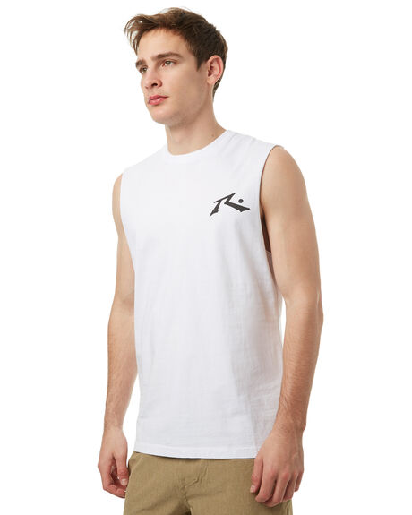 WHITE MENS CLOTHING RUSTY SINGLETS - MSM0230WHT