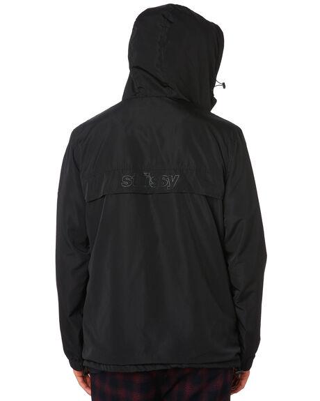 BLACK MENS CLOTHING STUSSY JACKETS - ST006501BLK